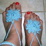 Barefoot Sandals Light Blue..