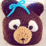 Bear Beannie - Fits 4 - 8 y..