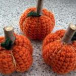 3 Little Crochet Pumpkins w..
