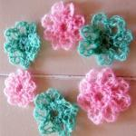 Flower Applique Crochet - 6..