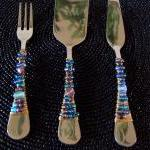 Beaded Cheese Serving Set -..