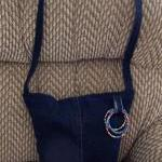 Blue Recycled Jean Purse wi..