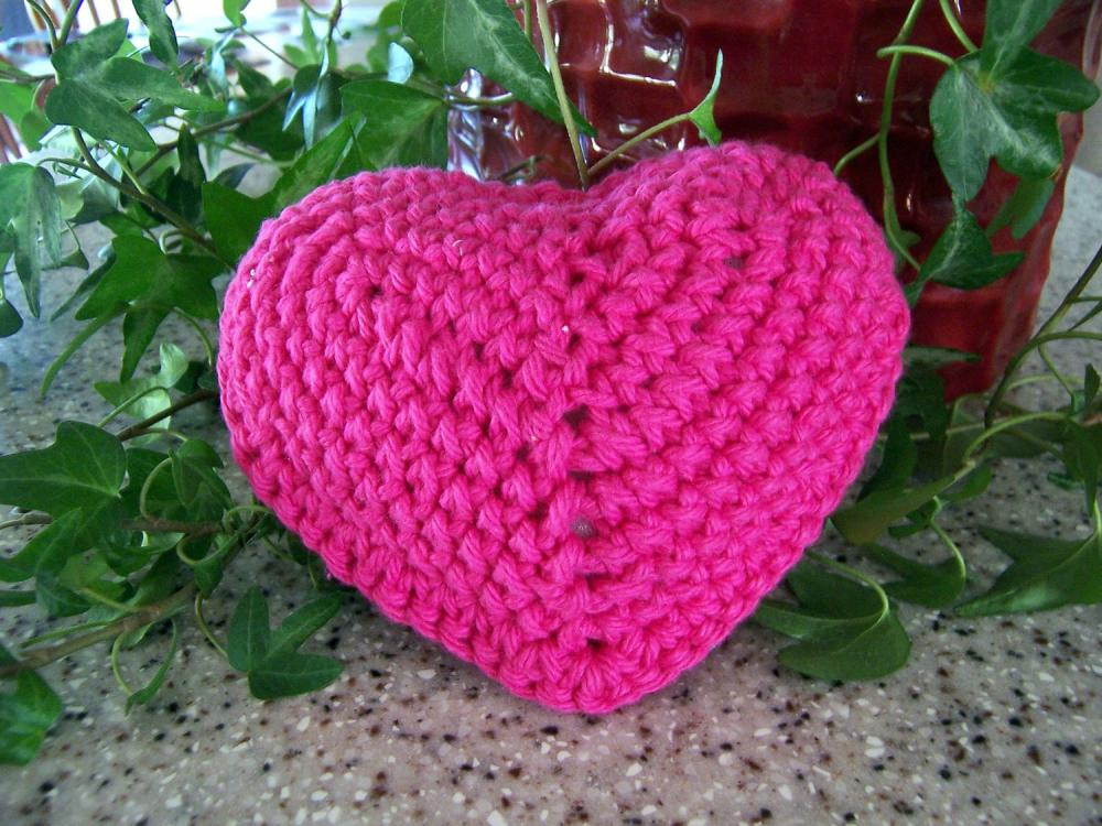Heart of Crochet - Ornament with ribbon tie