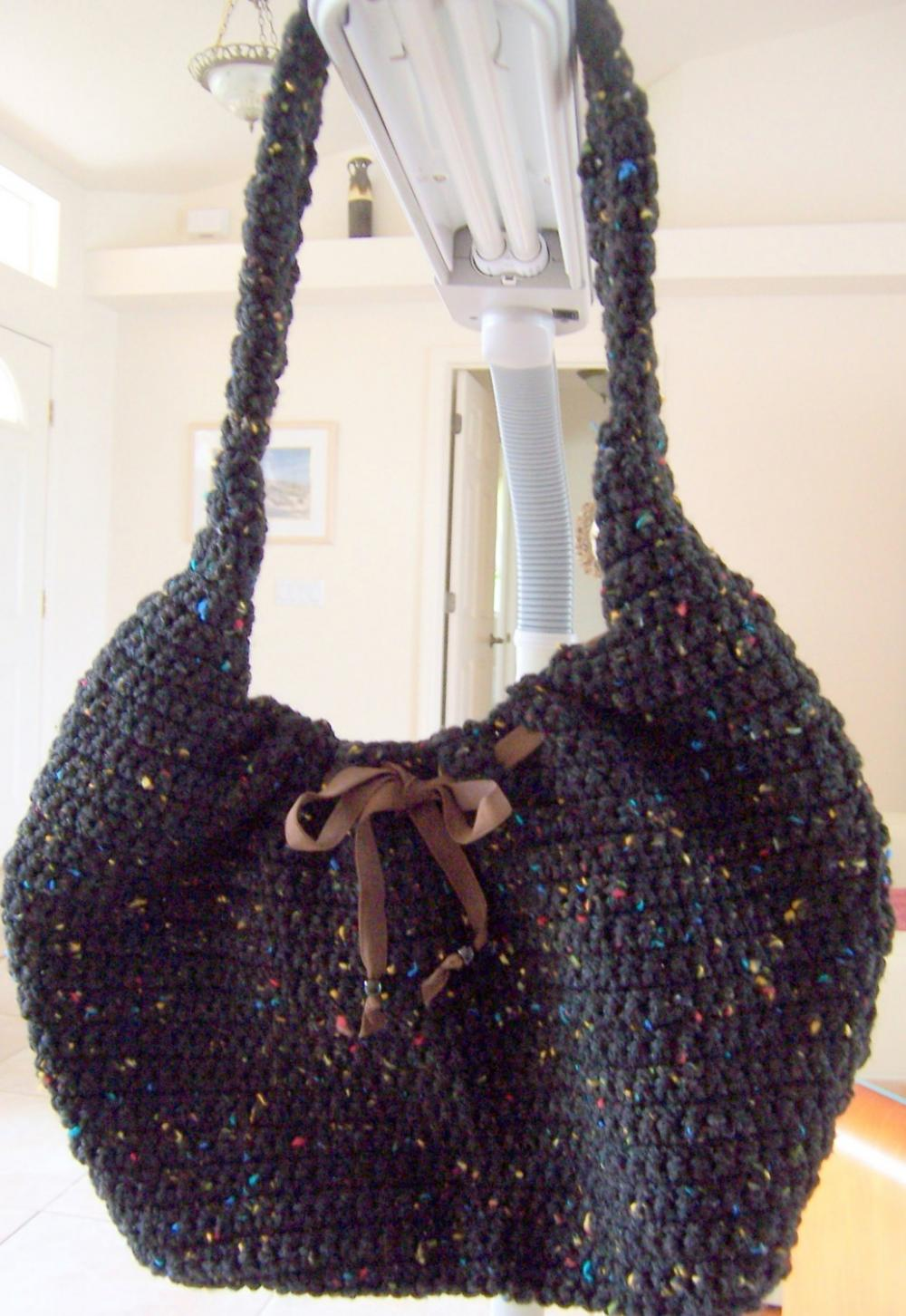 Crochet Black Purse