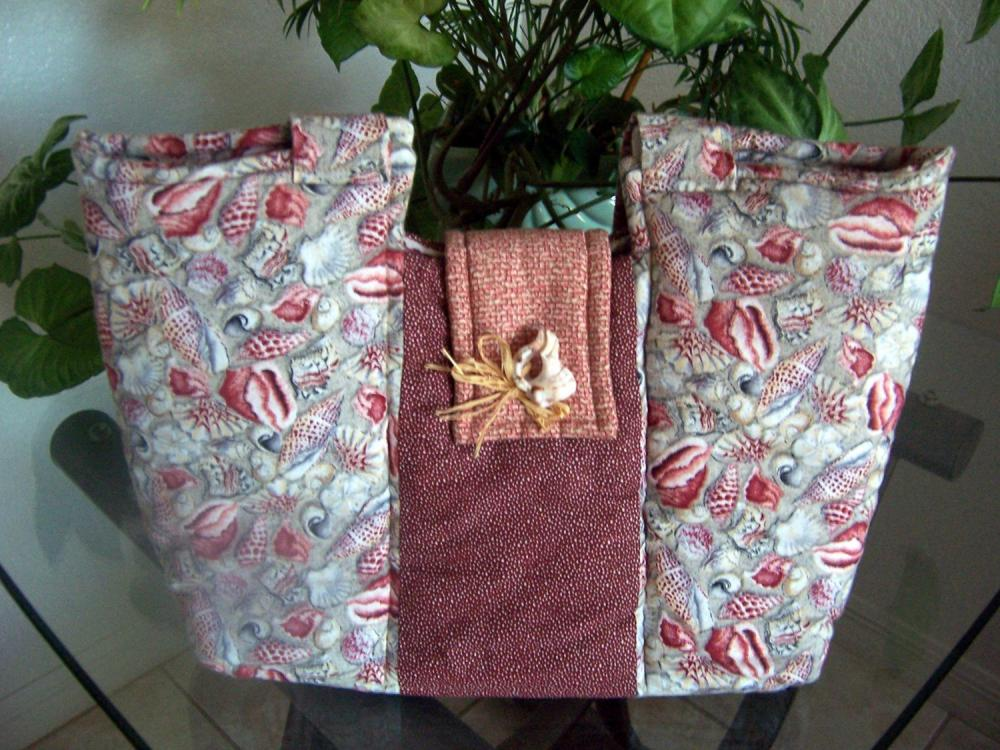Shell Fabric Purse