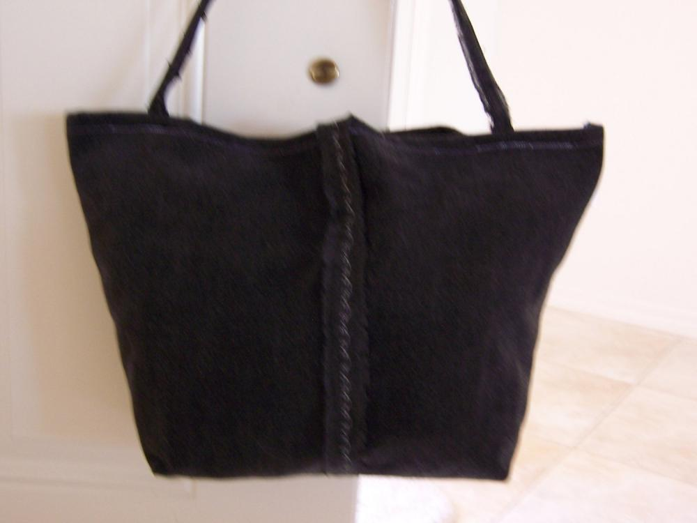 SALE -- Recycled Black Jean Tote