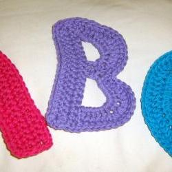 A, B, C&#039;s -- Alphabet Letters Crochet Cotton Yarn