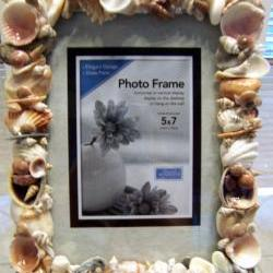Sea Shell Art Picture Frame for 5 by 7 pictures